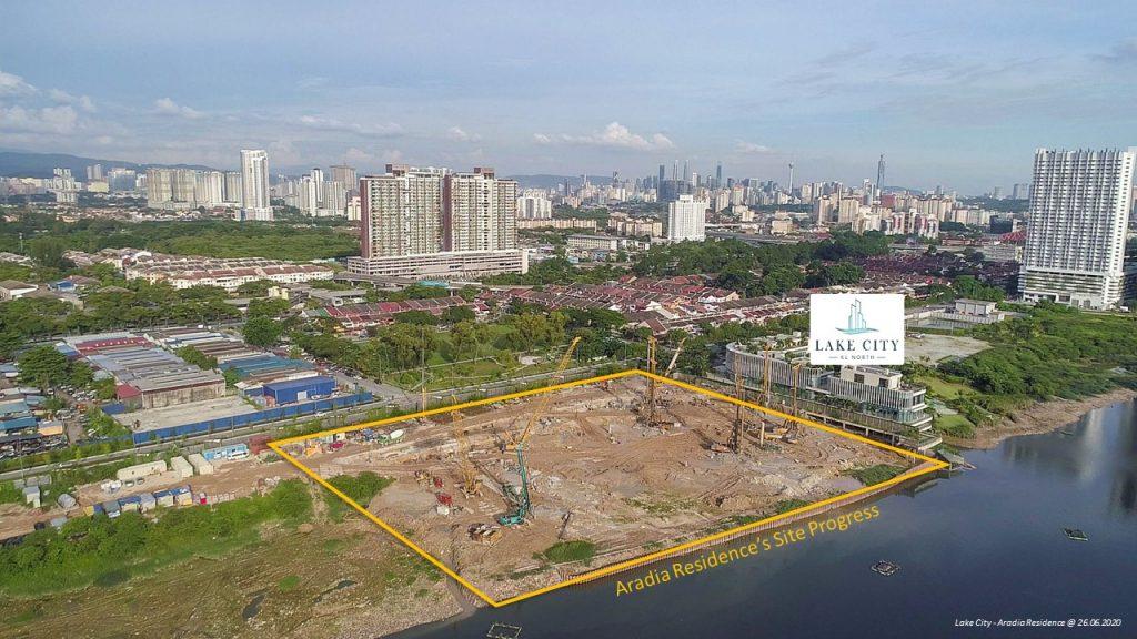 Construction Progress of Aradia Residence